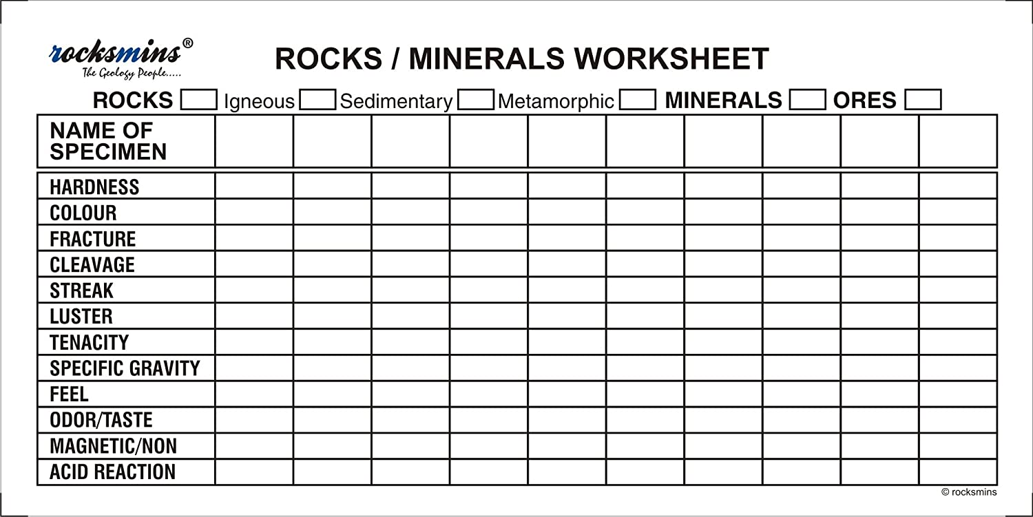 Worksheets Minerals Worksheet buy rocksmins minerals science activity kit with testing tools worksheet rocks puzzle online at low prices in india amazon in
