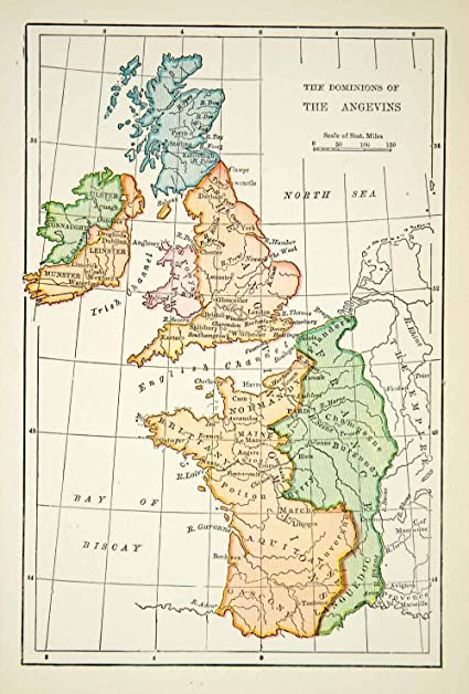 1916 print map angevins irish channel empire brittany champagne 1916 print map angevins irish channel empire brittany champagne france english relief line block gumiabroncs Image collections