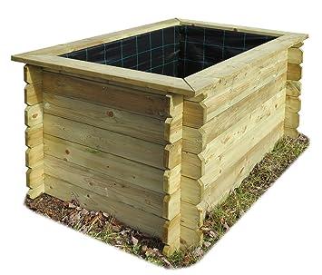 Gartenpirat Hochbeet 150x100x82 Cm Aus Holz Impragniert Ohne Boden