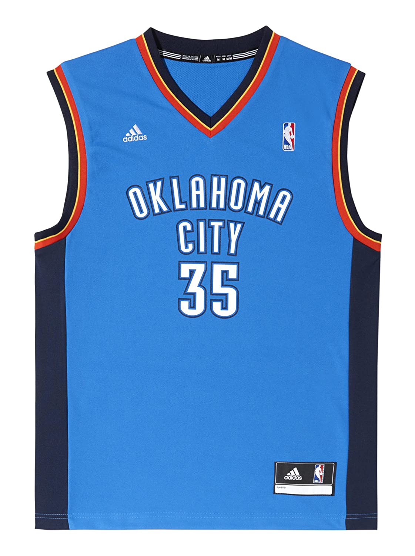 adidas Oklahoma City Thunder Kevin Durant NBA Replica Camiseta DIN Mangas de Baloncesto