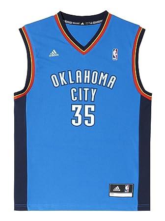adidas Oklahoma City Thunder Kevin Durant NBA Replica - Camiseta din mangas de baloncesto, color azul / naranja / blanco, talla XXXXL: Amazon.es: Deportes y ...