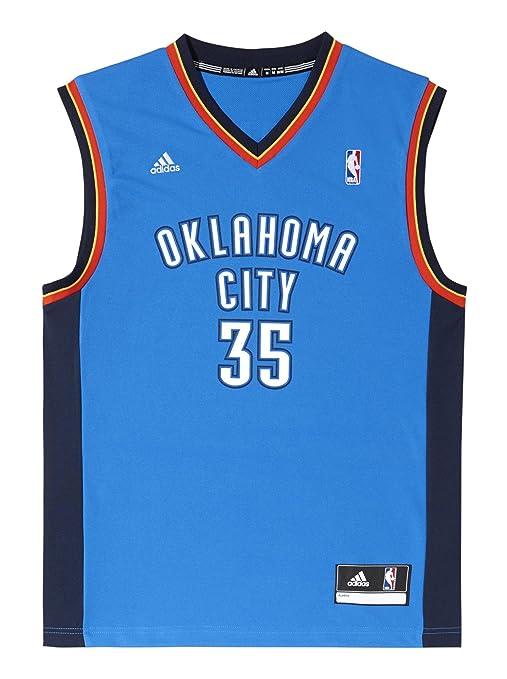 Adidas Oklahoma City Thunder Kevin Durant NBA Replica - Camiseta DIN Mangas de Baloncesto, Color