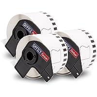 3 compatible etiquetas continuas por BROTHER DK-22205 papel térmico 62mmx30,48m para P-Touch QL 500 500A 500BS 500BW 550…