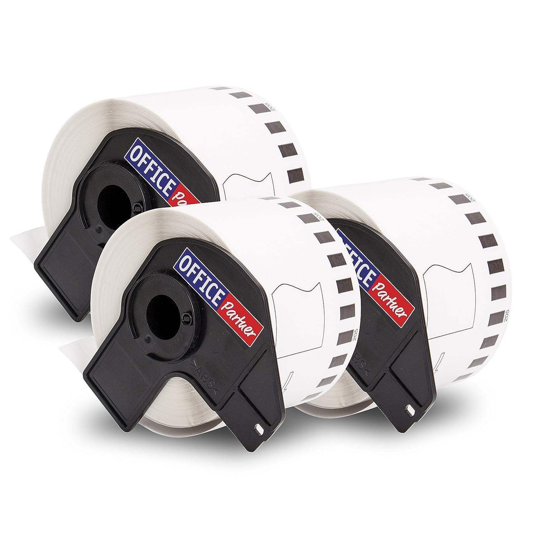 2x kompatible Endlos-Etiketten fü r Brother DK-22205 (62mm x 30, 48m) Brother P-Touch QL1050 / QL1060 / QL500 / QL550 / QL560 / QL570 / QL580 / QL650 / QL700 / QL710 / QL720 OFFICE Partner