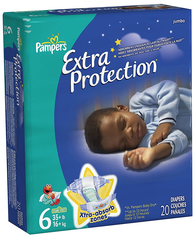 Amazon.com: PAMPERS X-PROTCT O/N SZ6 JUMBO Size: 4X20: Health & Personal Care