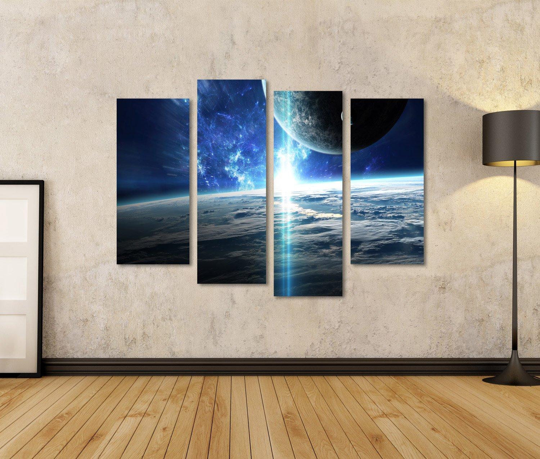 Islandburner Quadri Moderni Scena Dell Universo Con Pianeti Stelle E Galassie Nello Spazio Stampa Su Tela Quadro X Poltrone Salotto Cucina Mobili