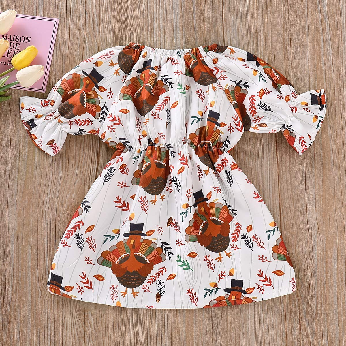 White ALLAIBB 3Pcs Newborn Baby Girl Outfit Classic Floral Print Romper Bowknot Tassels Size 66