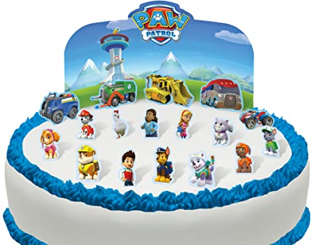 Cakeshop Pre Cut Pre Cut Paw Patrol Edible Cake Scene 18 Pieces