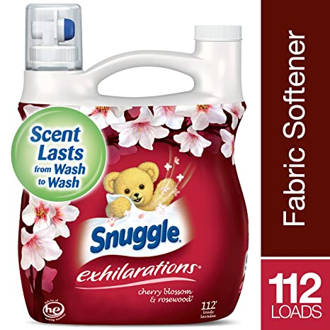 Amazon.com: Snuggle Exhilarations Liquid Fabric Softener, Cherry Blossom & Rosewood, 96 Fluid Ounces (4): Kitchen & Dining