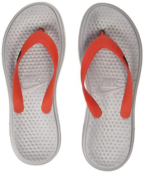 d56f2e172 Nike Men s SOLAY Thong Matte Silver Flip Flops Sandals-10 UK India (45EU