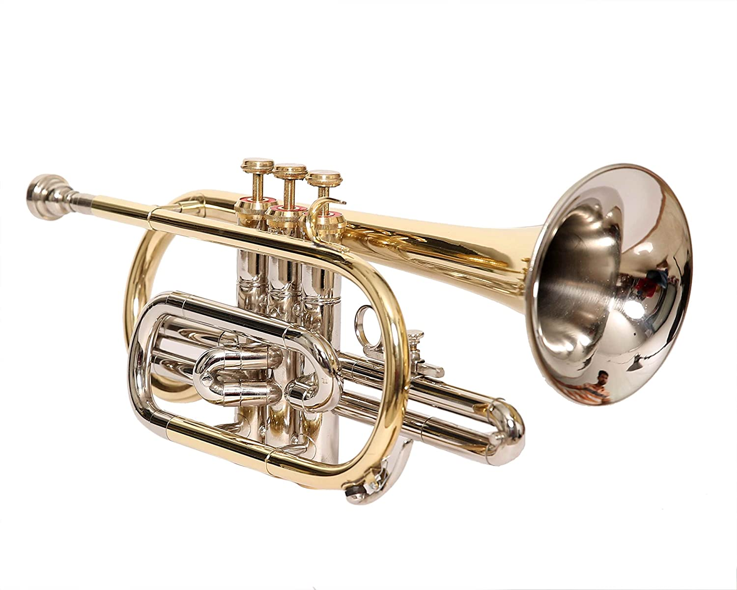 NASIR ALI CORNET Bb PITCH BRASS + NICKEL SILVER WITH FREE CASE AND MOUTHPIECE NASIR ALI & CO