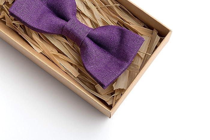 5a50bd742a3f Amazon.com: Purple bow tie, tie, wedding ties, men tie, baby bow ...
