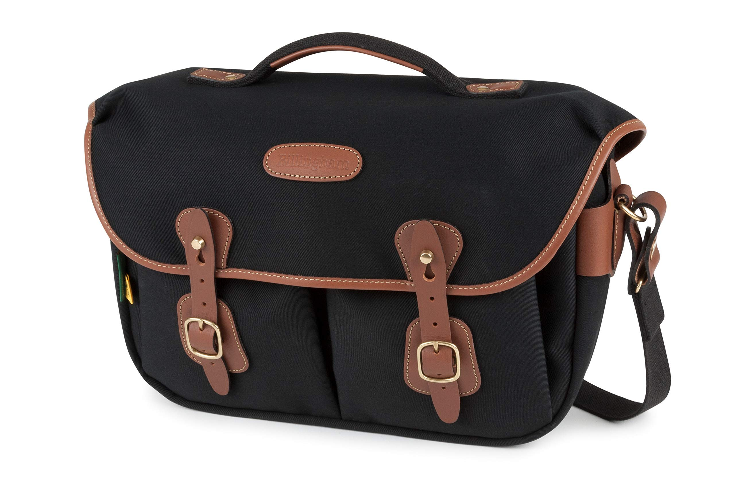 Black Canvas // Tan Leather Billingham 445 Camera Bag
