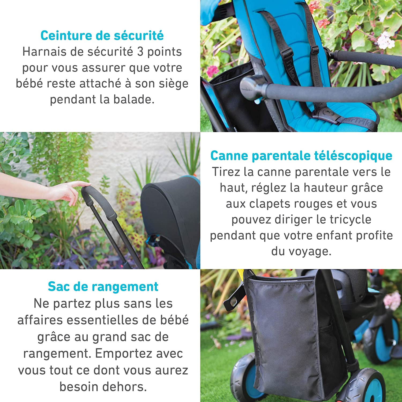 Bleu 5021800 Smartrike Tricycle /évolutif Pliant smarTfold 300 Plus