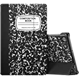 CaseBot Case for Lenovo Tab M10 Plus, Lightweight Slim Shell Stand Cover with Auto Sleep/Wake for Lenovo Tab M10 Plus TB-X606F / TB-X606X 10.3 Inch Tablet, Composition Book Black
