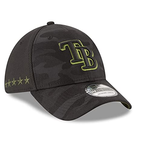 best sneakers c18f3 f189c New Era Authentic Tampa Bay Rays Memorial Day Flex Stretch Fit 39Thirty -  Black Camo