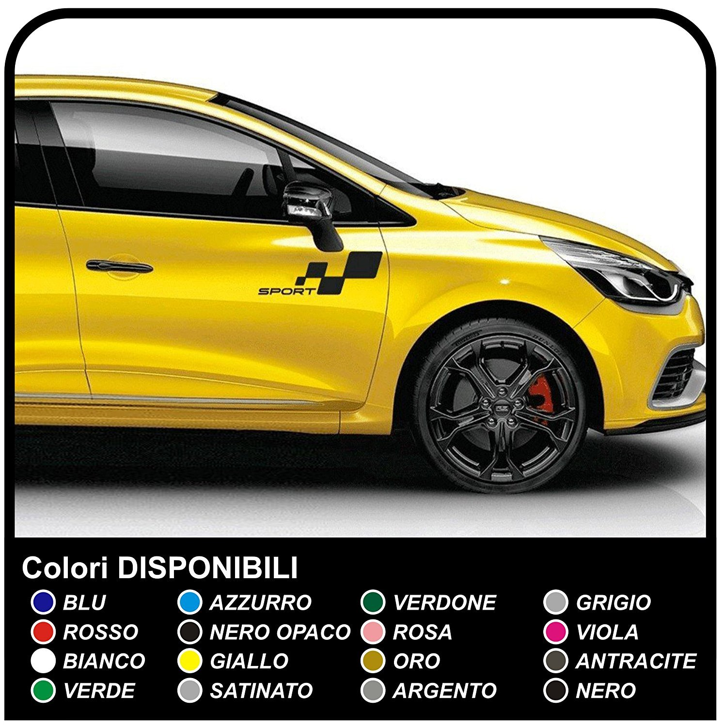 60 off autocollants pour clio rs et megane sport megane rs voiture decal set graphique rayures. Black Bedroom Furniture Sets. Home Design Ideas