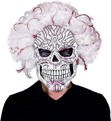 Ciao 30608 – Máscara Muerte Blanca de látex con peluca: Amazon.es: Juguetes y juegos