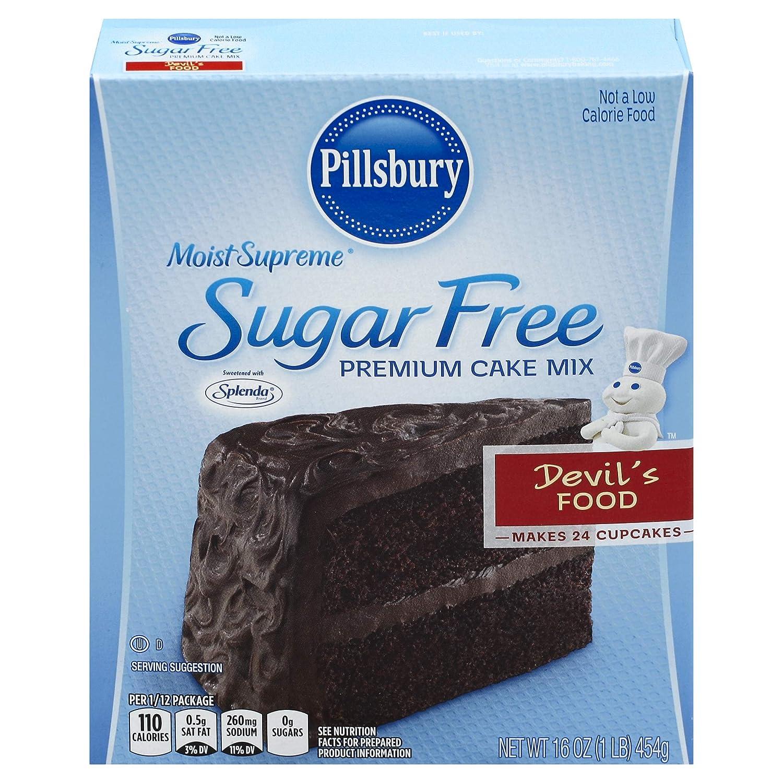 Pillsbury Moist Supreme Sugar Free Devil's Food Premium Cake Mix, 16-Ounce (Pack of 12)