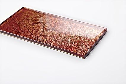 Qm parete di vetro piastrelle autunno colori rosso arancione