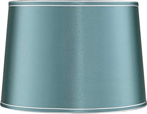 Soft Teal Drum Lamp Shade 14x16x11 Spider – Springcrest