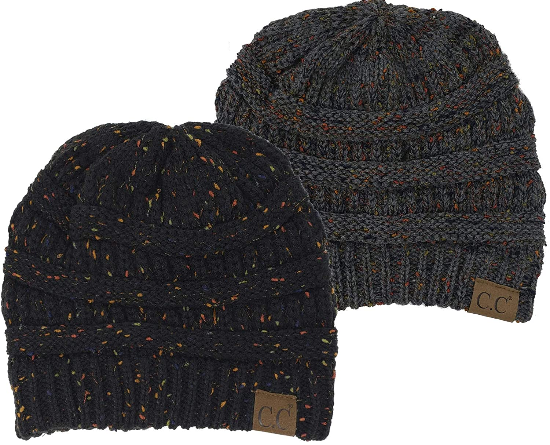 Funky Junque CC Confetti Knit Beanie - Thick Soft Warm Winter Hat - Unisex f54c3428a897