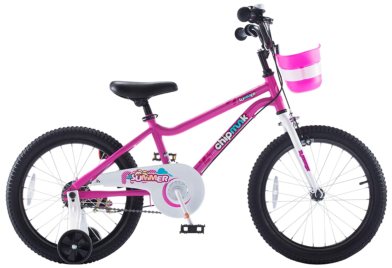 """Blue and Pink Kickstands for 16/""""18/"""" Chipmunk RoyalBaby MK Sports Kids Bike for Girls and Boys Training Wheels for 12/""""14/""""16/""""18/"""""""