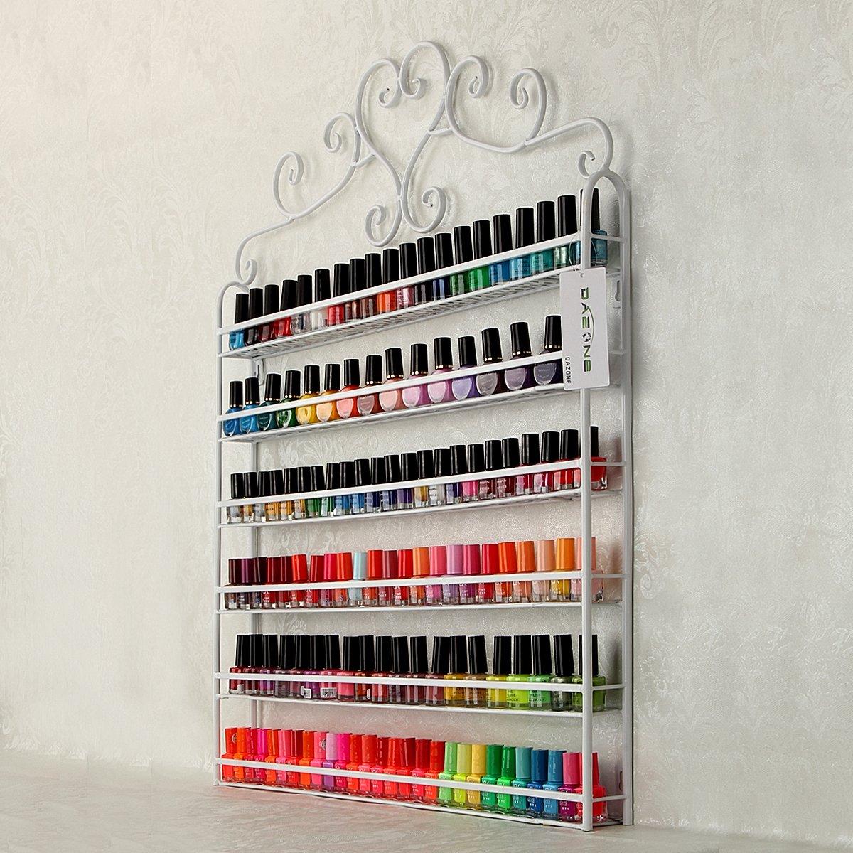 YUDA montado en la pared 6 niveles de esmalte de uñas estante ...