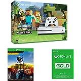 Xbox One S 500GB Ultra HD ブルーレイ対応プレイヤー Minecraft 同梱版 (ZQ9-00068) + PLAYERUNKNOWN'S BATTLEGROUNDS + Xbox Live 12ヶ月ゴールド メンバーシップ セット