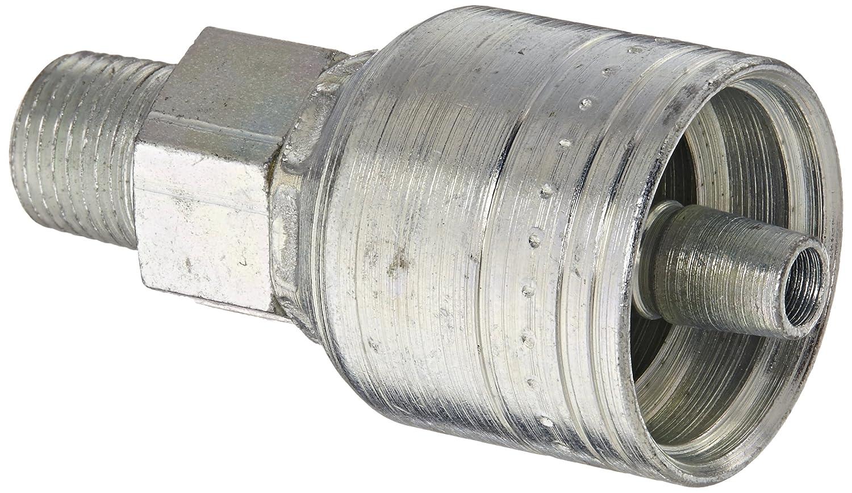 Crimp Hose Fitting Male Pipe 3//4-14 Thread 5//8 Hose ID 3//4-14 Thread Eaton Straight Thru the Cover 5//8 Hose ID Aeroquip 1AA12MP10 Carbon Steel Global TTC