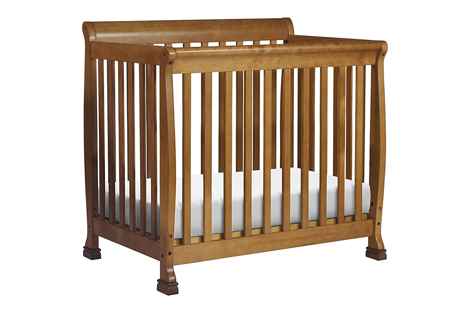 DaVinci Kalani 2-in-1 Mini Crib and Twin Bed, Chestnut M5598CT