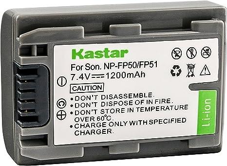 Li-Ion batteria tipo np-fp50 per Sony dcr-sr50 dcr-sr60