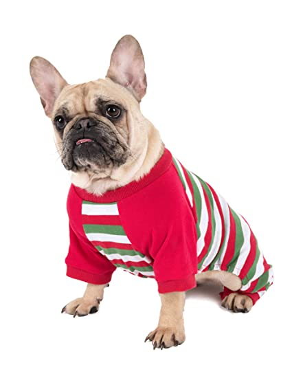 016f967a58 Leveret Matching Dog Pajamas Christmas Pjs 100% Cotton Red White Green Size  Large