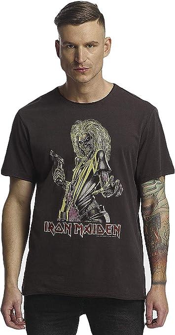 Amplified - Camiseta para hombre con diseño de Iron Maiden Killers, color carbón: Amazon.es: Ropa y accesorios