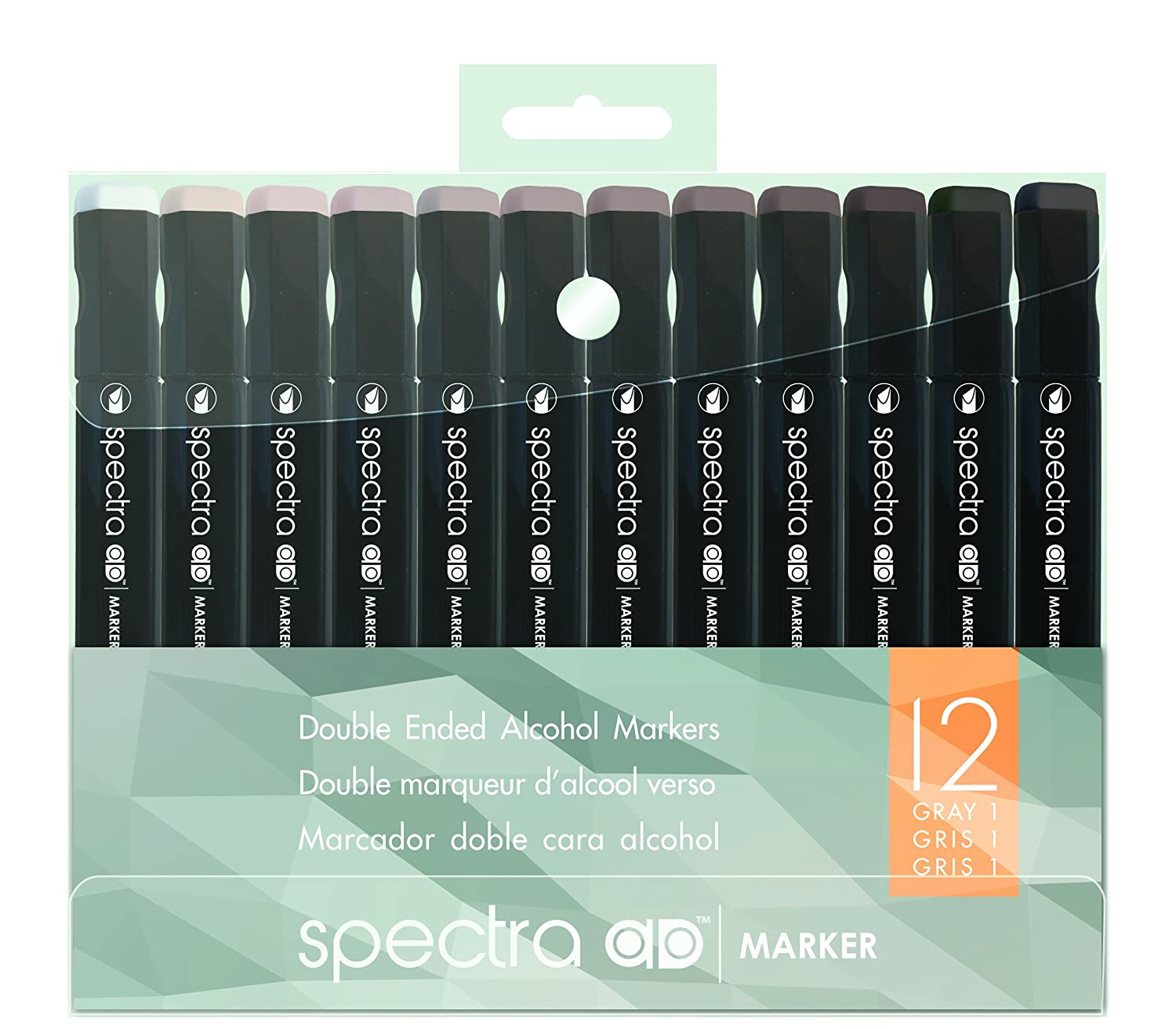 Chartpak Spectra Admarker Set 12 clrs Wrm Gry clrs 12 35d2f0