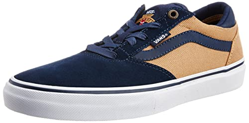 Navy and Tan Canvas Sneakers