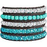 Rafaela Donata - Bracelet en cuir véritable - Cuir véritable turquoise (rec.), collier en cuir véritable, bijoux en cuir - 60831019