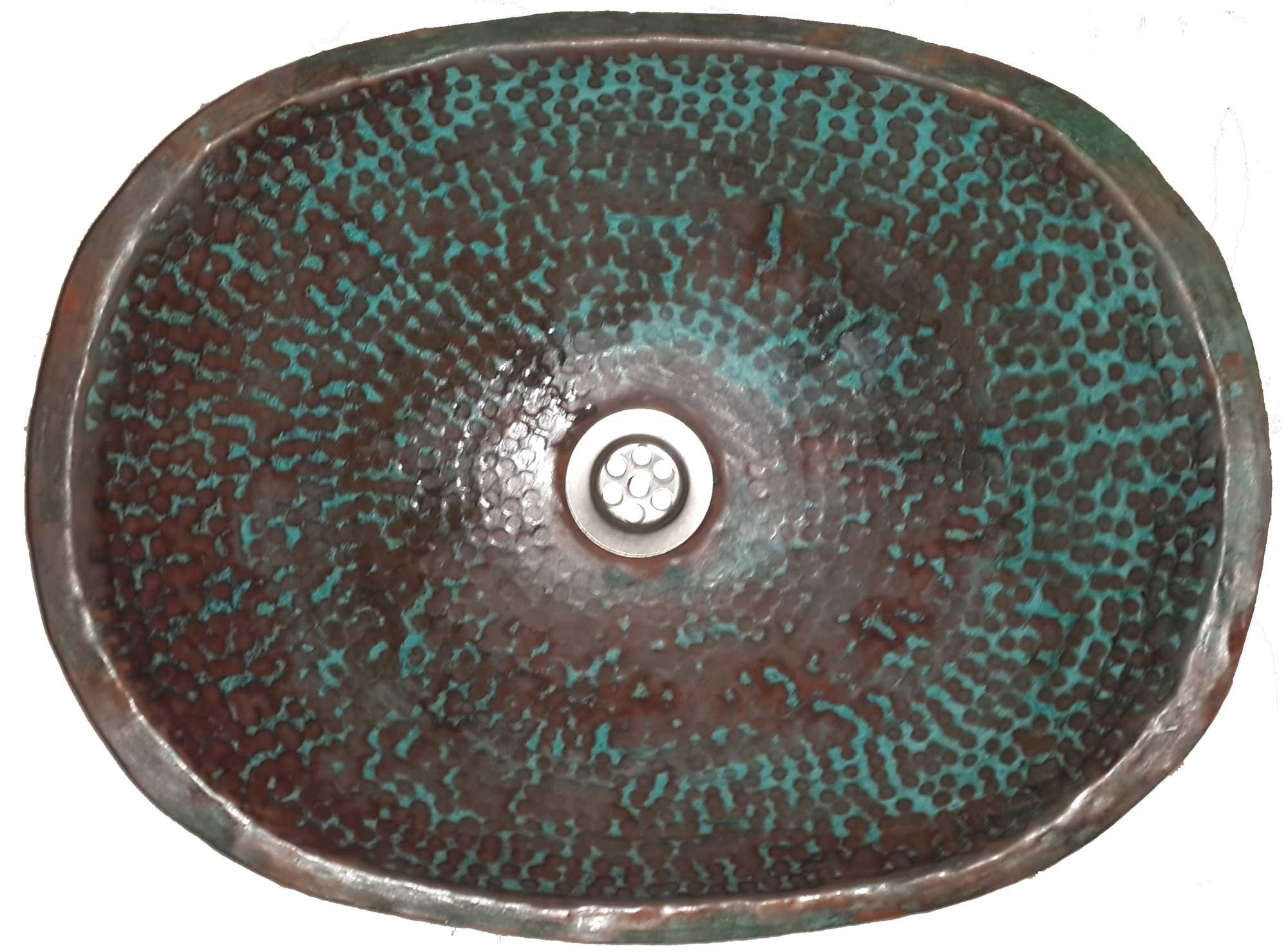 Egypt gift shops Oxidized Textured Copper Surface Oval Vessel Master Bathroom Sink Guest Washroom Lavatory
