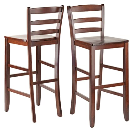 29 inch wood bar stools with back swivel stool winsome 29inch bar ladder back stool set of amazoncom 2 kitchen