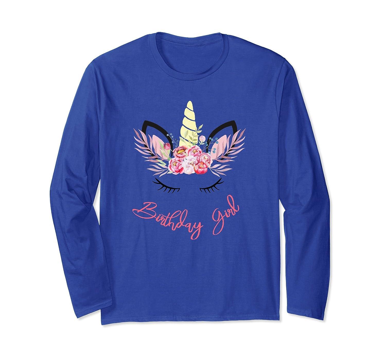 Birthday Girl Unicorn Party Long Sleeve Shirt-alottee gift