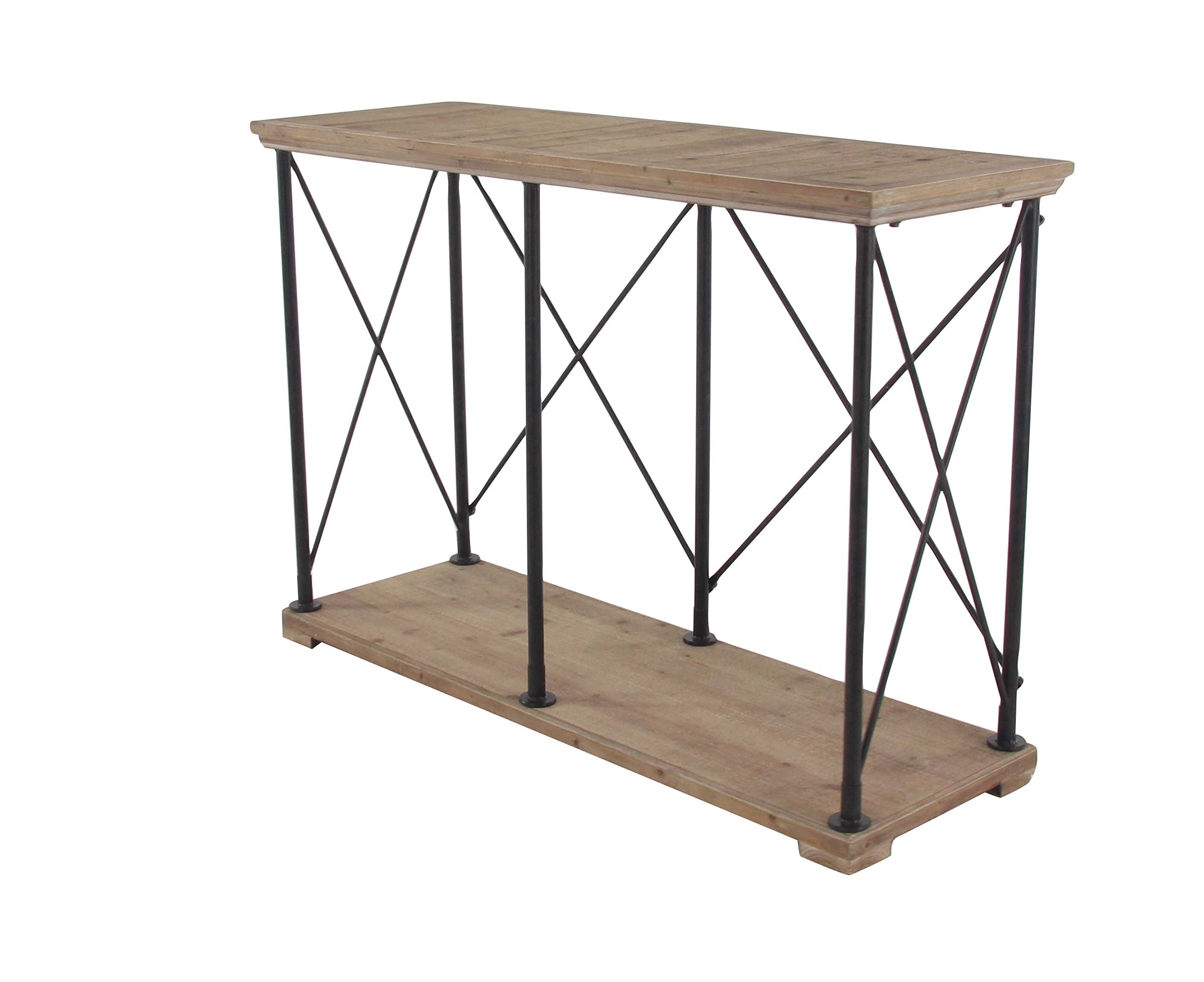 Deco 79 44470 Console Table, Black/Brown