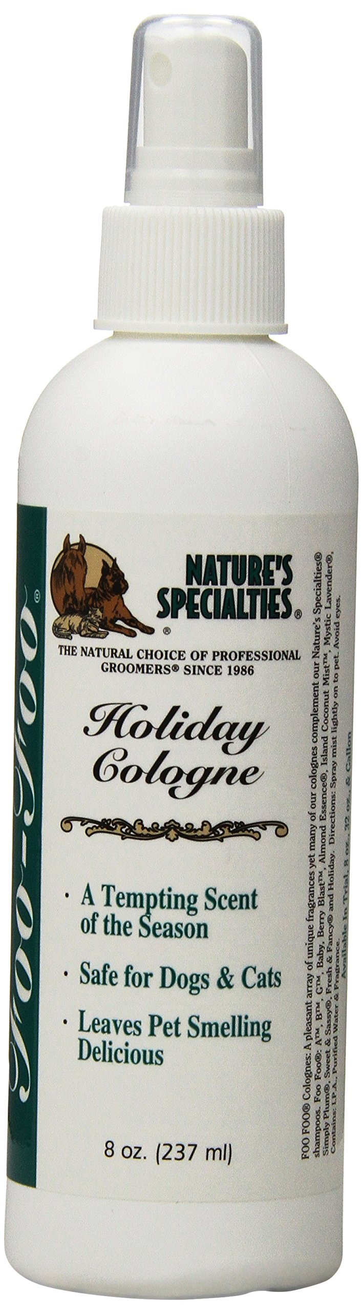 Nature's Specialties Foo Foo Holiday Pet Cologne, 8-Ounce