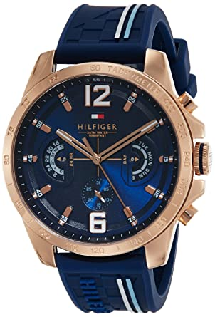 Embody Mew Mew spagnolo  Buy Tommy Hilfiger Analog Blue Dial Men's Watch - TH1791474 Online at Low  Prices in India - Amazon.in