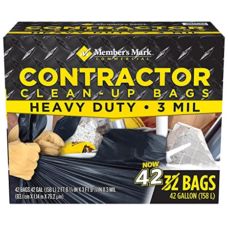 Member's Mark Commercial Contractor Clean-Up Bags (42 gal , 42 ct )