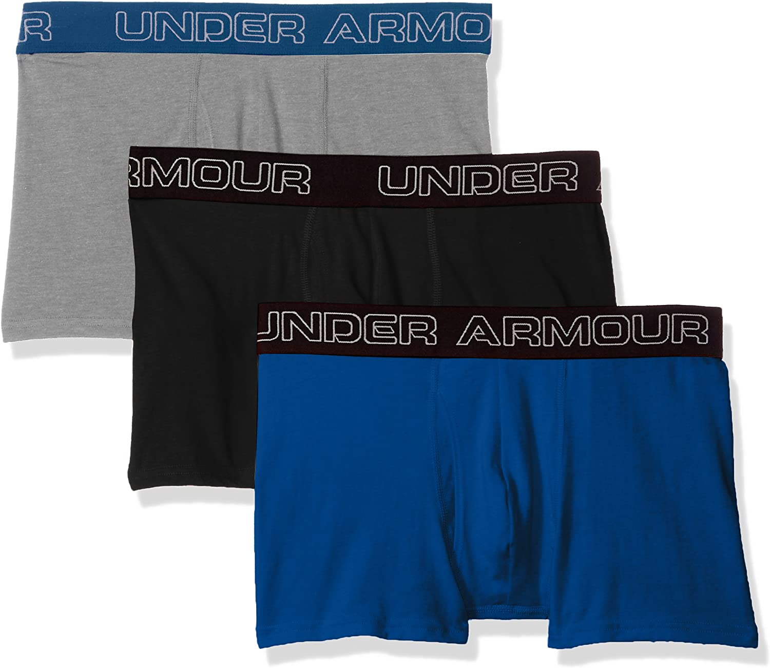 """Under Armour 2017 Mens Charged Cotton Stretch 6/"""" Boxerjock 3-Pack Underwear"""