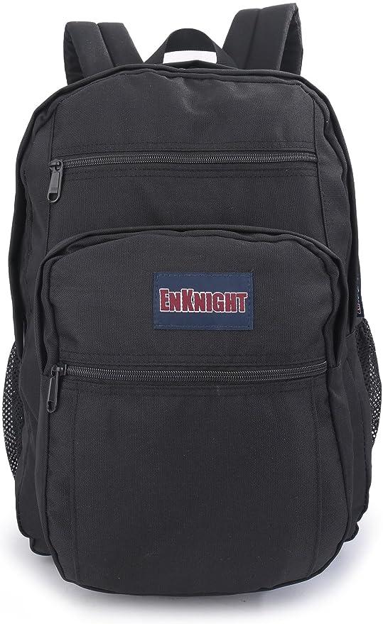 ENKNIGHT bolsa de colegio Casual Mochilas Laptop Mochilas ocio de bolsa negro