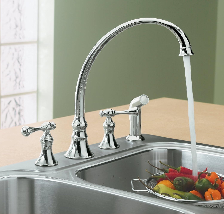 Kohler Revival Kitchen Faucet Kohler K 16109 4a Cp Revival Kitchen Sink Faucet Polished Chrome