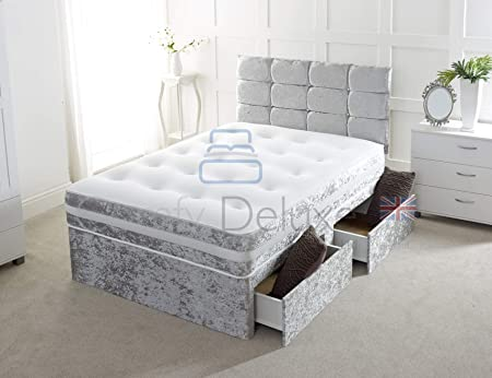 Comfy Deluxe LTD Crushed Velvet Divan Bed - Excellent Quality