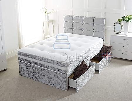 Comfy Deluxe LTD Crushed Velvet Divan Bed - Excellent Quality