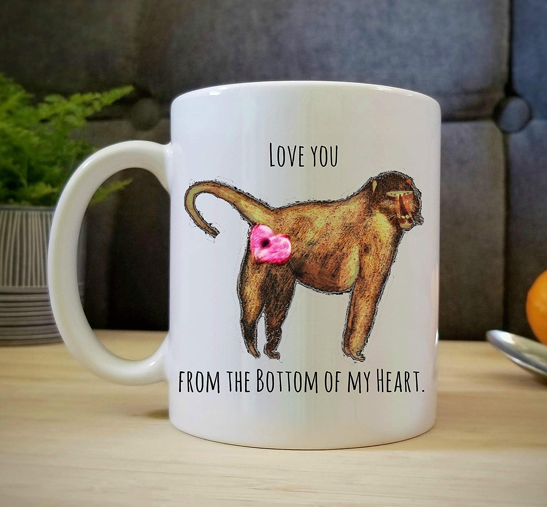Amazon Com Funny Mug Love You From The Bottom Of My Heart Baboon Butt Gift Monkey 11 Oz Dishwasher Safe Cute Animal Baboon Mug Handmade,Bathroom Remodel Bathroom Floor Tile Ideas